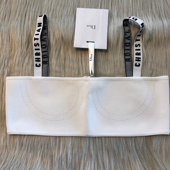 a8d9c8986228d Authentic Dior Bralette Bandeau. White size Small
